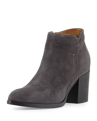 Anzio Suede Ankle Bootie, Anthracite