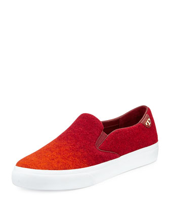 Rudi Ombre Slip-On Sneaker, Red/Orange