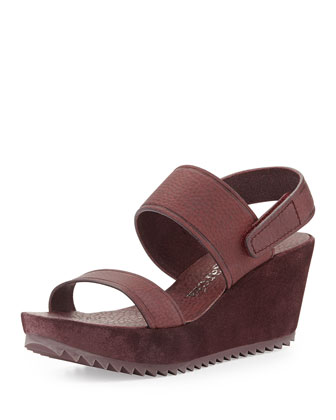 Francy Mid-Wedge Sandal, Port