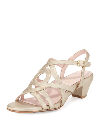 Oma Strappy Leather Sandal, Soft Gold