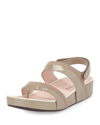 Avin Patent Leather Sandal, Quartz