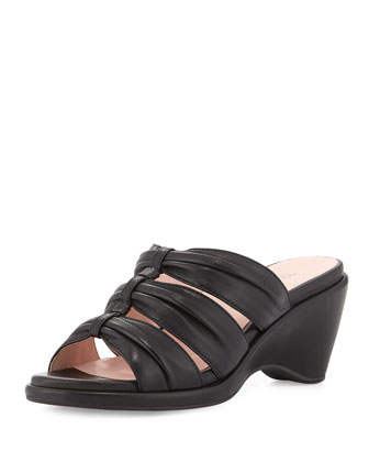 Maison Triple-Band Mule Sandal, Black