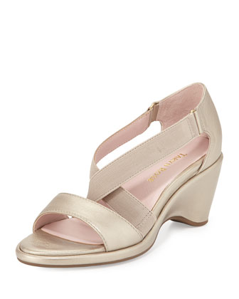 Maura Stretch Wedge Sandal, Quartz