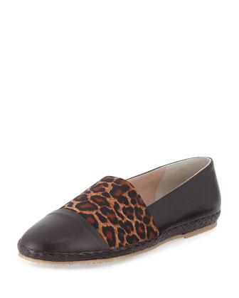 Lorie Napa Cap-Toe Slip-On, Leopard