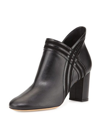 Larose Chunky-Heel Ankle Boot, Black (Nero)