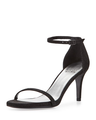Naked Low-Heel Sandal, Black