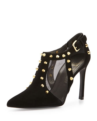 Saunter Studded Ankle Bootie, Black