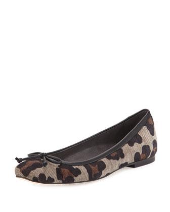 Shoestring Chenille Ballerina Flat, Topo