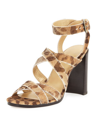 Soundtrack High Calf Hair City Sandal, Dorado