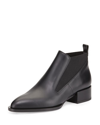 Yarrow Leather Bootie, Black