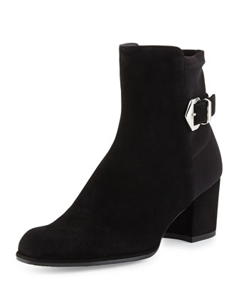 Sidearm Ankle-Buckle Bootie, Black
