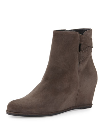 Fitness Suede Wedge Bootie, Londra
