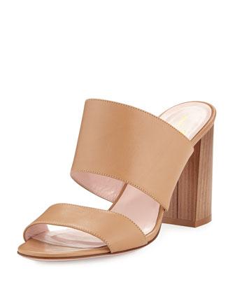 imma chunky-heel mule sandal, natural