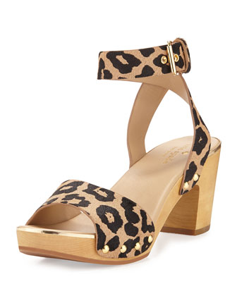 kayleigh ankle-wrap sandal clog, desert black
