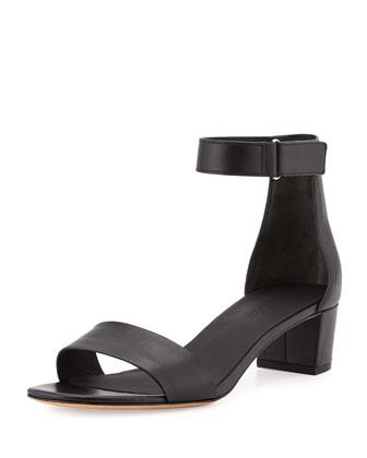 Rita Block-Heel Sandal, Black