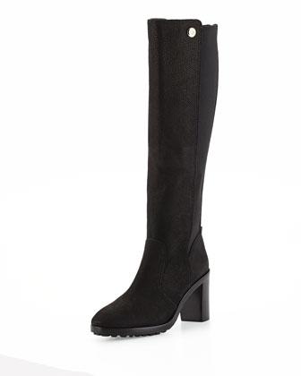 Sullivan Leather Knee Boot, Black