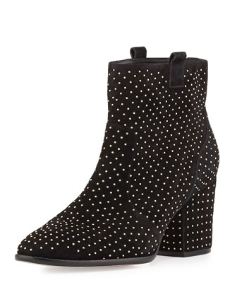 Blake Studded Suede Bootie, Black