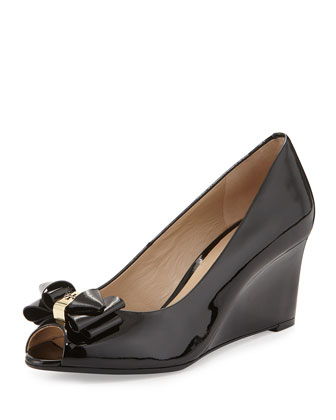 Patent Bow Wedge Pump, Black