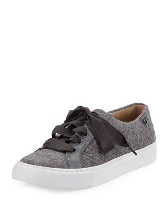 Marion Quilted Fleece Sneaker, Dove/Stone