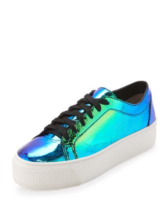 Miko Iridescent Platform Sneaker, Acid