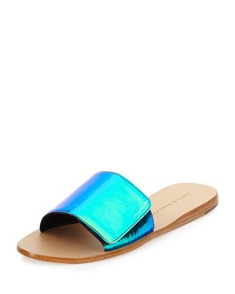 Sibi Iridescent Sandal Slide, Acid
