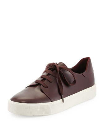 Bale Leather Low-Top Sneaker, Fig