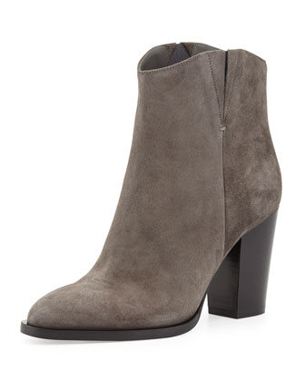 Erving Western Ankle Bootie, Charcoal