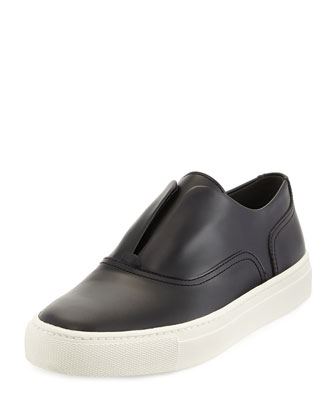 Nelson Leather Slip-On Sneaker, Black