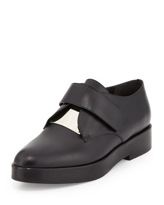 Wren Leather Loafer, Black