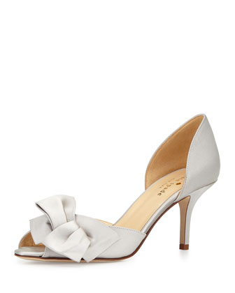 sala satin d'orsay pump, gray