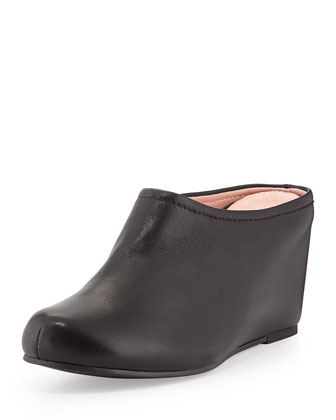Boston Napa Leather Mule, Black