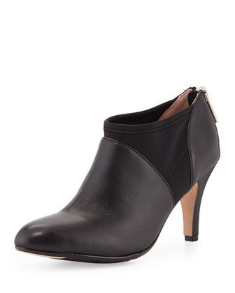 Tonga Leather Ankle Bootie, Black