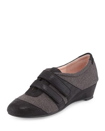Pople Sport Demi-Wedge Sneaker, Gray