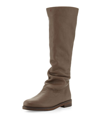 Cervo Zip-Back Knee Boot, Smog