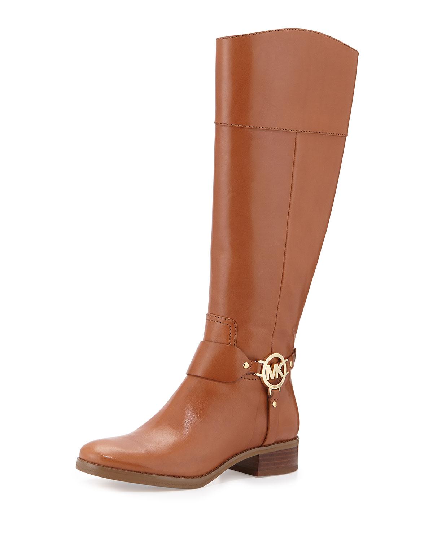 Fulton Harness Leather Riding Boot, Luggage, Size: 35.5B/5.5B - MICHAEL Michael Kors