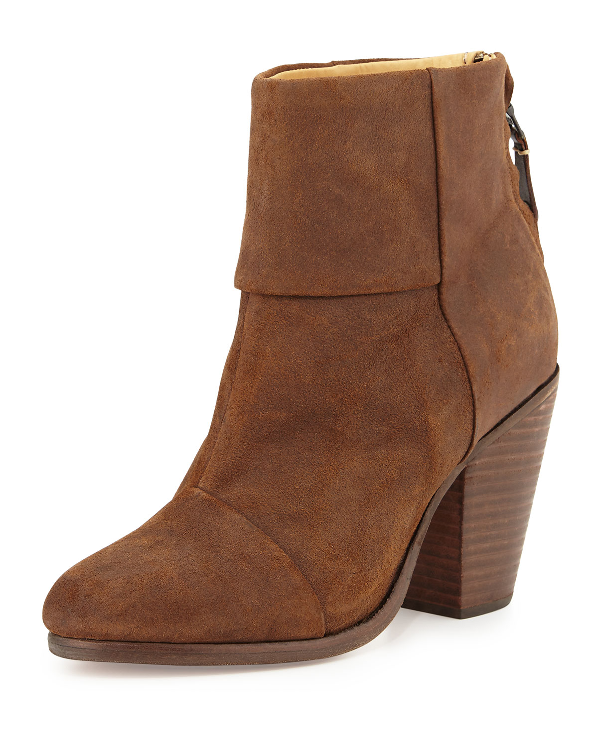 Classic Newbury Leather Ankle Boot, Brown - Rag & Bone