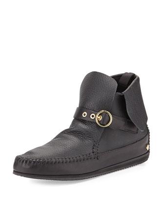 Gigi Leather Moccasin, Black