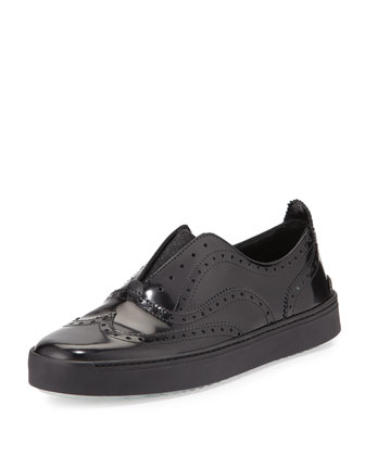 Meli Oxford Slip-On Sneaker, Black