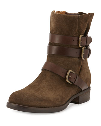 Triumvirate Suede Moto Boot, Bosco
