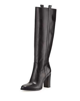 Shaw Vachetta Leather Boot, Black
