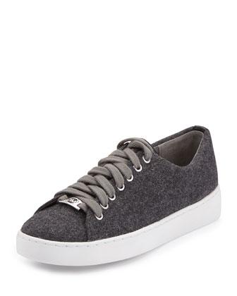 Keaton Flannel Low-Top Sneaker, Gray
