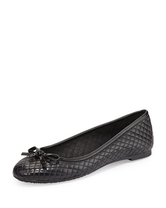 Melody Quilted Ballet Flat, Black