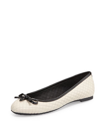 Melody Quilted Ballet Flat, Ecru
