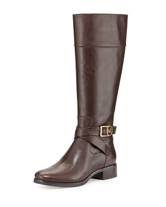 Bryce Leather Riding Boot, Dark Chocolate