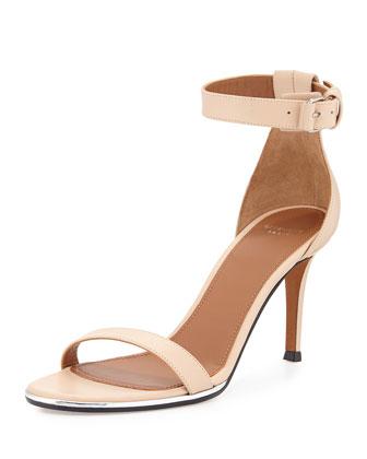 Nadia Ankle-Strap Sandal, Beige