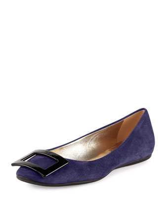 Gomette Patent Leather Flat, Navy