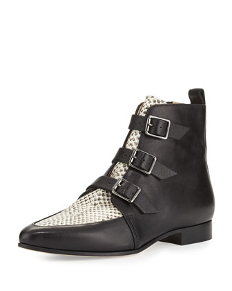 Marlin Leather Ankle Boot, Black