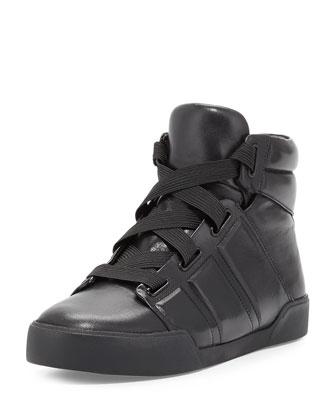 Morgan High-Top Sneaker, Black