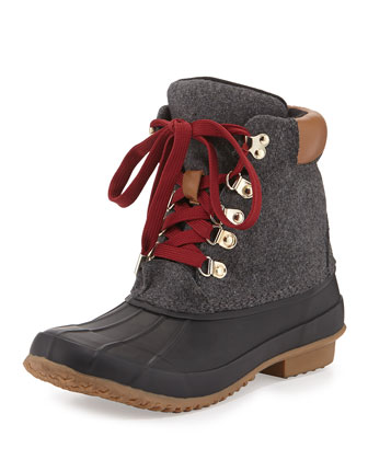 Delyth Felt Weather Boot, Charcoal