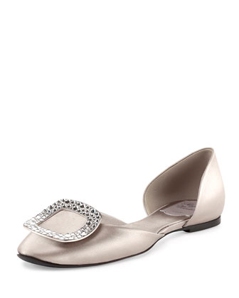 Ballerine Chips d'Orsay Flat, Gray Pearl